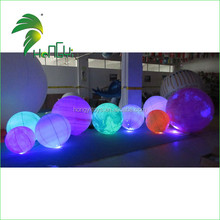 New Fashion Inflatable Venus Lighting Balloons , Inflatable Solar System Planet Balloons With Led Light For Event