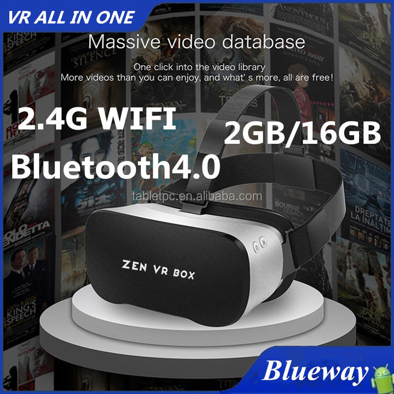 Factory Wholesale OEM Available NEW 2016 Zen VR Headset All In One 2GB/16GB Virtual Reality Bluetooth 4.0 Octa Core VR Box
