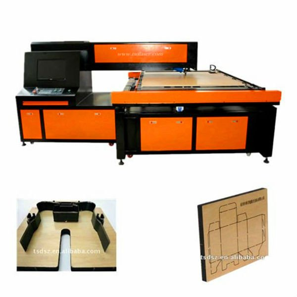 TSD Laser CNC CO2 cutting machine | laser cutting machine for carton, sticker die plate production