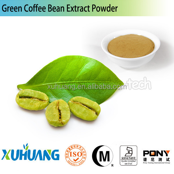 green coffee bean extract/Water-soluble Green Coffe Bean Extract/pure green coffee bean extract powder
