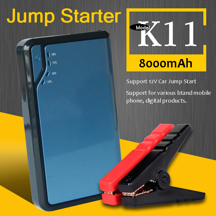 Cxj Technology Mature Manufacturer <strong>K11</strong> 8000Mah Peak Compact Battery Jump Starter 300