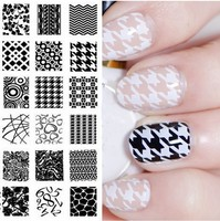 Melodi Nail Art Stencils Stamping Template