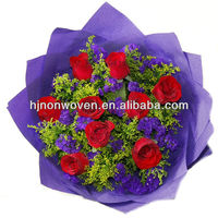Non-woven fabric for floral wraps