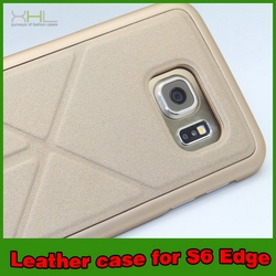 Durable hot selling for samsung s6 case edge pu leather case
