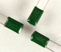 Epoxy Resin Coating Metallized Film Capacitor 102J 100V PEI Mylar polyester film capacitor CL11