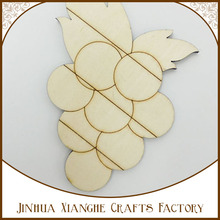 New arrival style fashion sellinng wood pallet natural color grape shape die-cut wood shapes /