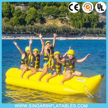 Hot sale summer water toys inflatable fly fish banana boat 5 seats