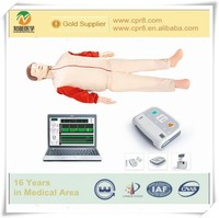 Advanced CPR AED defibrillation simulation (computer control dual function combination) BIX/ALS1000