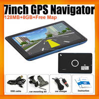 "Wince Car GPS Navigation 800X480 With 7""HD display 8GB and 3D map for Car Truck or Van"