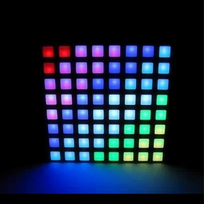 RGB dot 5mm full color led 8x8 dot matrix display,60.4*60.4 dmx