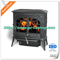 china supplier custom made cast iron antique fireplace