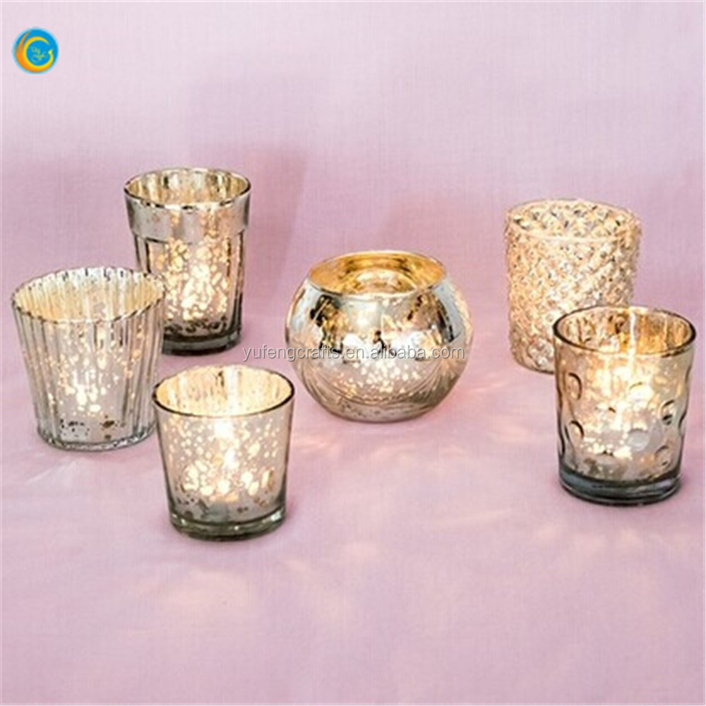 Best of Mercury Glass Candle Holders silver gold colors