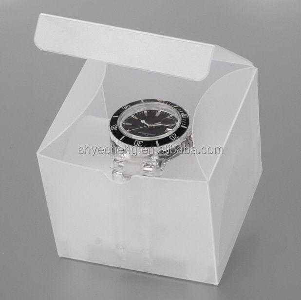 eco recyclable pvc clear plastic watch box manufacturer and exporter