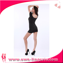 Women Bathing Suit Black elastic with half transperant sexy bodysuit