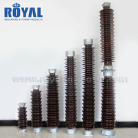 HOT SALE 126kV 110kV porcelain solid core post insulators/ceramic station post insulator