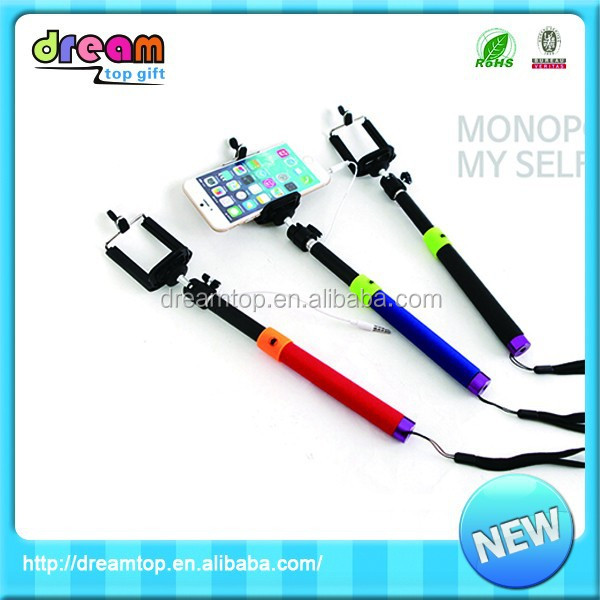 Good quality folding durable mobile phone wholesale selfie stick