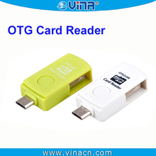 China Made 2in1 SD/MicroSD Card Reader For USB / Micro USB OTG Device Samsung