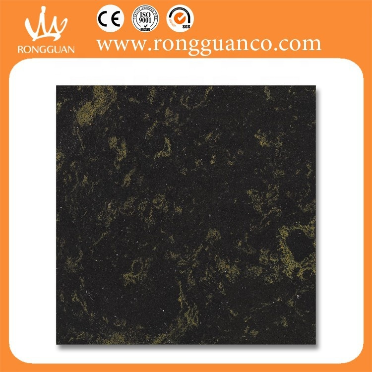 black and yellow marble floor