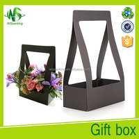 Simple flower box packaging with handle
