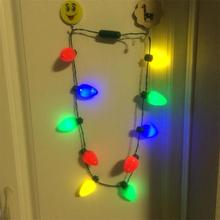 Top Sale Part Decoration Christmas Lights Necklace Flashing Holiday Necklace