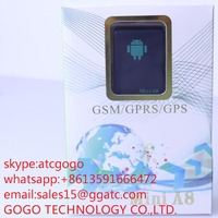 Coin size hidden sim card tracking 3G gps tracker for kids and cars