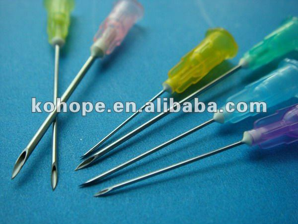 disposable poly hub needle