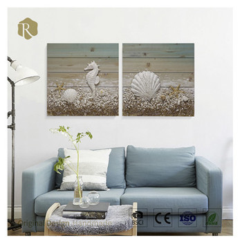 Wholesale Wood Frame Effect Wooden Home Decoration Oil Painting on Canvas For Home Decoration