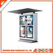 Mass supply fashionable design big screen full color lcd display advertising outdoor for bus railway metro station