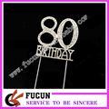 cheap items to sell 80th birthday rhinestone cake topper decorations for cakes