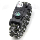 Wholesale paracord survival bracelet with LED light and T-shaped blade jungle camping activity