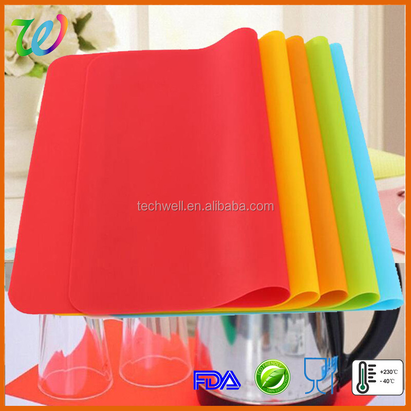 Wholesale silicone table cutting softextile anti slip rubber mat