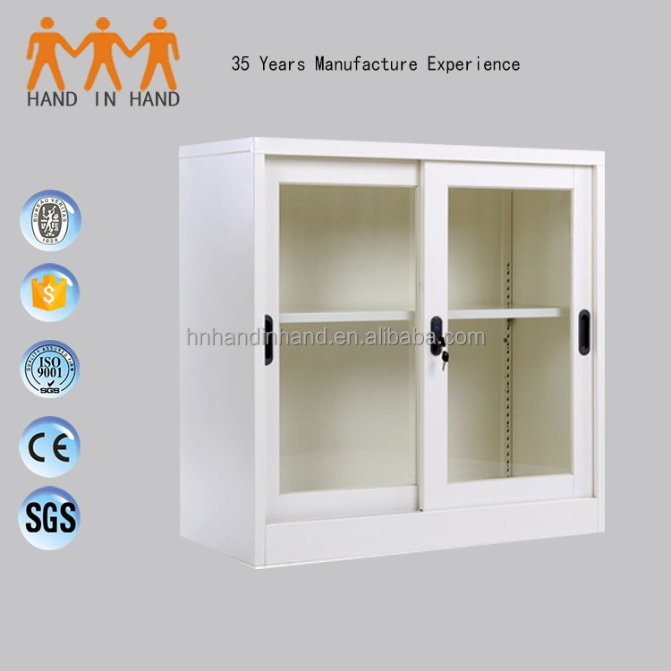 Steel Used Office Furniture Sliding glass Door Storage Cabinet