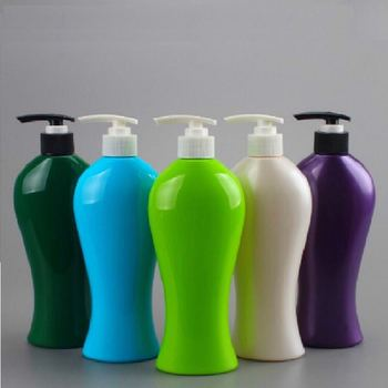 Custom colored PET shampoo bottle body wash liquid bottle with lotion pump cap