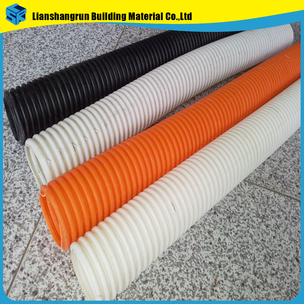 hdpe twin wall corrugated polyethylene pipe for electrical wiring
