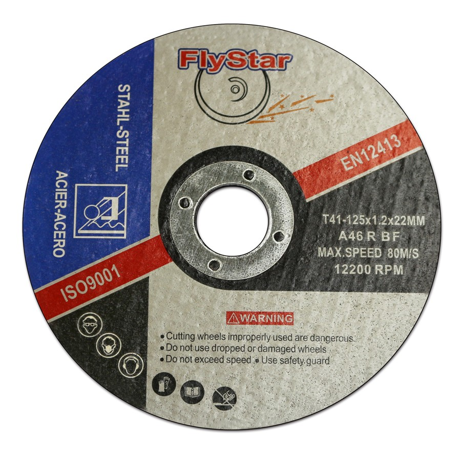 125x1.2x22mm Precision abrasives cutting disk for steel
