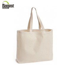 Personalize Printing Wholesale Blank White 100% Canvas Cotton Tote Bag