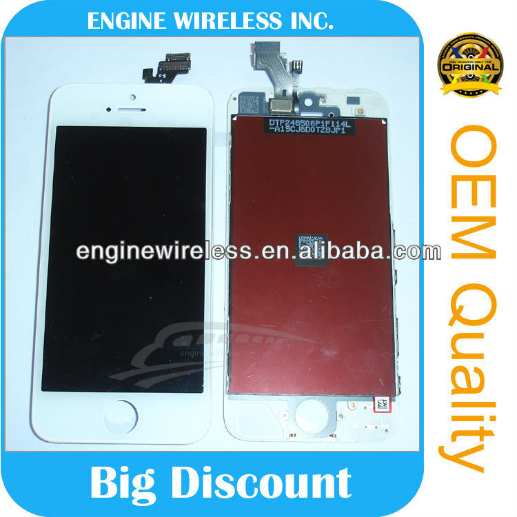 Mobile phone spare part recycle broken lcd screen for iphone 5