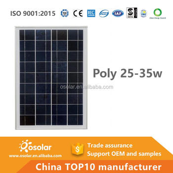 wholesale pv battery module fotovoltaico polycrystalline 12v 25w solar panel