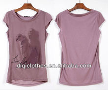 lady silk short sleeve T-shirt italy clothes wholesale