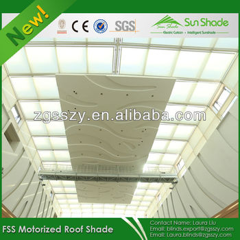 Auto Blackout Fabric Skylight Canopy Shades Roof Window Blinds