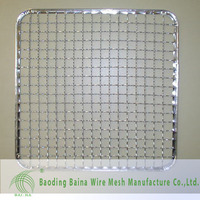 stainless steel crimped wire mesh sheet,crimped mesh for barbecues grill made in china