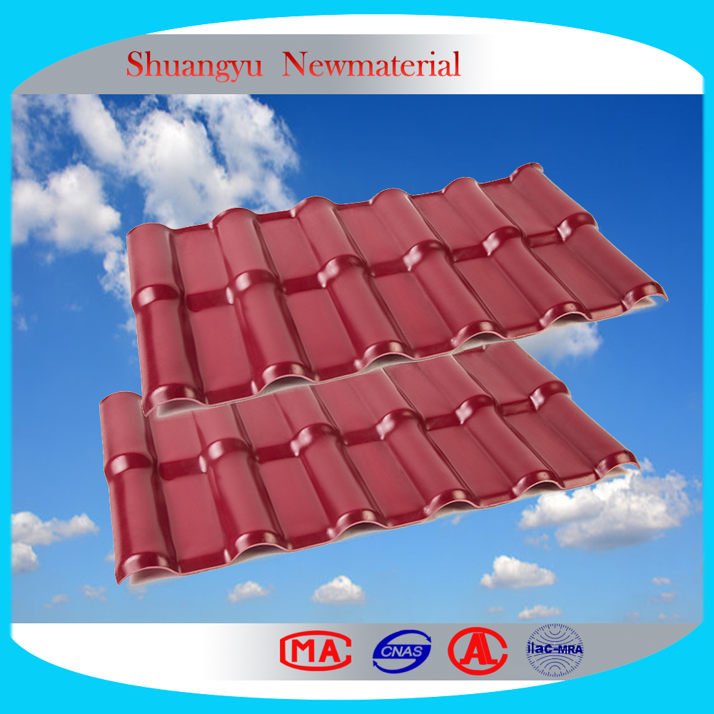 Wethering resistance Roof Tile/Weather -proof pvc sheet for roofing