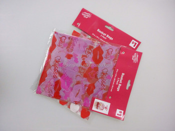 "2 pack 36 x 48"" clear plastic Valentines wrapping sheets pp baskets sleeves"