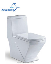 S-trap ceramic washdown floor mounted one piece toilet (ACT5131A)