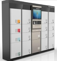 Security electronic code cell phone storage lockers