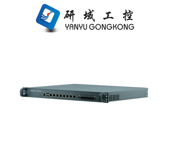 China Cheap 1U firewall server security network with Optical fiber network card 1U 8 ethernet ports Firewall barebone