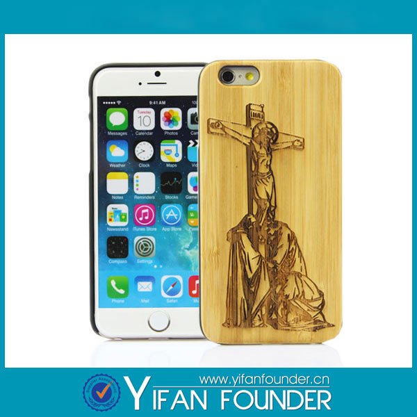 Wholesales Creative Phone Case For Iphone6/6s Laser carving Wooden phone Case Cover