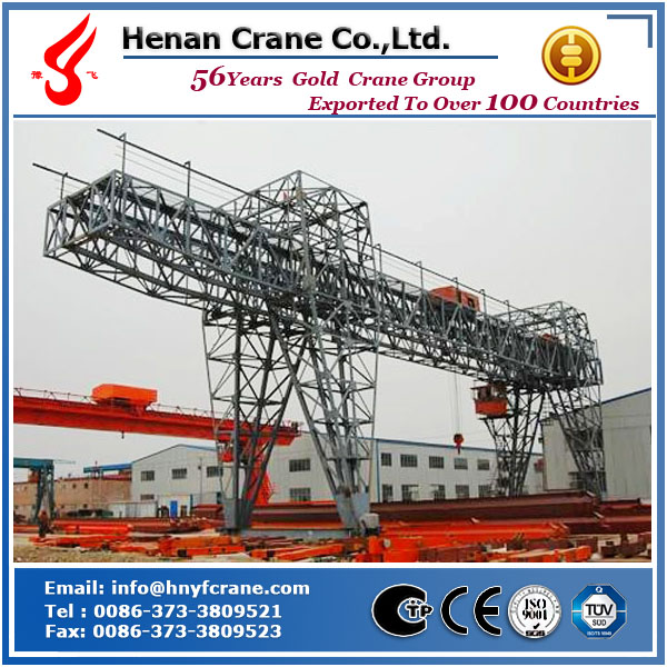 Rail traveling trussed type mobile gantry crane door crane