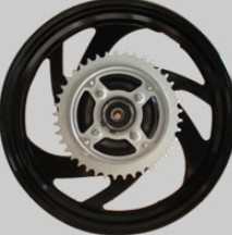 Conjoined drum brake rear wheels of three wheel motorcycle scooter 3.0*15