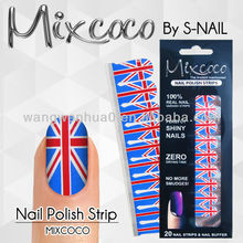 2016 new nail polish strips,nail polish sticker,100% real nail polish